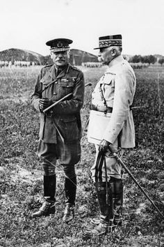 size: Photographic Print: Field Marshal Sir Douglas Haig and General Francois Anthoine, Wwi, : Nazi Propaganda, Field Marshal, History Of England, Military Pictures, World War One, Famous Men, British Army, War Machine, Find Art