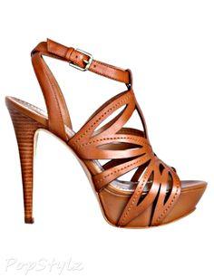 GUESS Oliane Cutout-Detail Platform Leather Sandals