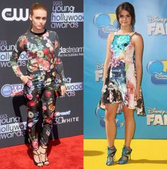 Maia Mitchell vs. Holland Roden: The Stars Face off with Fashion-Forward Florals... Maia Mitchell looks way better in my opinion. Holland Roden looks like she's wearing pajamas.