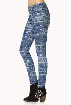 Adventurer Tribal Print Skinny Jeans | FOREVER21