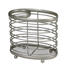 Spectrum Diversified 20777 Ashley-countertop Styling Caddy (Ashley Style Caddy), Grey metal