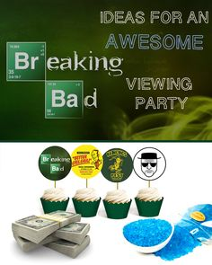 How To Throw An AWESOME Breaking Bad Viewing Party (with printables) Whiteside Whiteside Politowicz Breaking Bad Birthday, Breaking Bad Party, Breking Bad, 21st Birthday, Birthday Parties, Best Television Series, Grown Up Parties, Brownie Bites, Book Themes