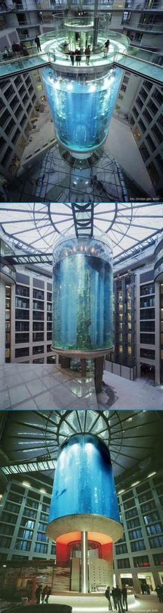 World's biggest Acquarium - Radisson SAS hotel in Berlin Mitte