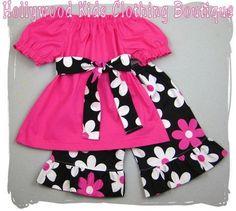 Custom Children Boutique Unique Handmade Cute Infant Baby Girl Clothing Peasant Dress Top w/ Sash Flower Floral Plain Jane Ruffled Pant Outfit Set 3 6 9 12 18 24 month size 2T 2 3T 3 4T 4 5T 5 6 7 8 via Etsy