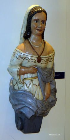 Handmade wooden figurehead from 17th century. Image From Lois' Hands: Antique Figure Head