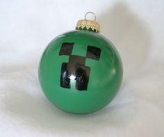 Minecraft Creeper Christmas Ornament. $7.50, via Etsy.