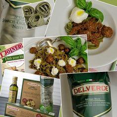 Spinach Tagliatelle with Lamb Meatballs - Tagliatelle agli spinaci con polepttine d'agnello