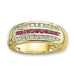 Ampalian Jewellery 18 Carat Gold Diamond Ruby Ring (173) An elegant ring set with a third of a carat of brilliant cut diamonds flanking a central line of http://www.comparestoreprices.co.uk/gold-jewellery/ampalian-jewellery-18-carat-gold-diamond-ruby-ring-173-.asp