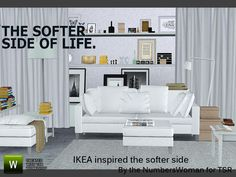 Ikea Inspired Softer Side living by riccinumbers - Sims 3 Downloads CC Caboodle