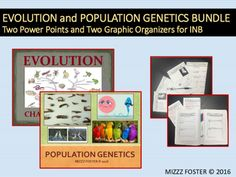 This bundle covers concepts in Evolution and Population genetics. There are two power points and two graphic organizers. It could take up to a week to cover.EVOLUTION BUNDLEDetailed Evolution Bundle with historical review of Darwin's journey and development of the principle of natural selection.