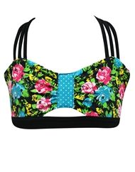 A super pretty floral crop top. California Kisses makes the best clothes. I also love the little cut out on the bottom.