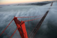 A kick ass view of the Golden Gate Bridge in San Francisco sky as seen from a helicopter view on Thursday, October 24, 2014. Buy this image as a great Christmas gift! (Photo/Alex Menendez)