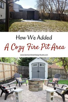 Adding a Fire Pit Area | Garrison Street Design Studio | Fire Pit | Backyard | Outdoor | Patio | Cheap | On a Budget | Easy | Gas | Square | Yard | Cozy | Metal | Simple | Inexpensive | Stone | Propane | Portable | Rock | Gravel | Bonfire | Party | How to Build a Fire Pit | Pavers | Fireplace | Brick | Outdoor Entertaining | S'mores | Store Bought | Seating | DIY | Summer | Fall | Spring | Outdoor Heating | Fun | Project | Budget | Firepit Concrete Fire Pits, Concrete Pavers, Cement, Small Fire Pit, Diy Fire Pit, Fire Pit Backyard, Gazebo, Pergola, Fire Pit Materials