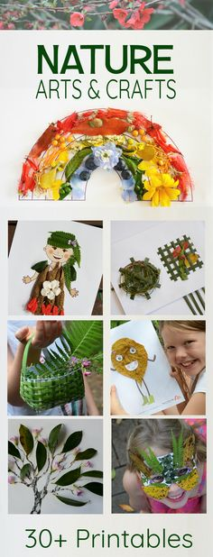 Nature art ideas for children - perfect for outdoor classrooms, learning outdoors and forest school.