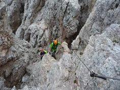 Via Ferrata Averau Cortina d'Ampezzo Dolomites Italy - ideal for beginners