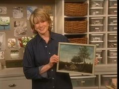 Martha Stewart constructs a frame for a small-sized painting using molding.
