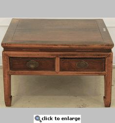 Antique Asian Coffee Table Square (Square Coffee Table)