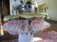 Pearl hangers for Adults and children! Check out these pearl hangers used at a Bridal Shower - from Place Of Events! contact placeofevents@yahoo.com