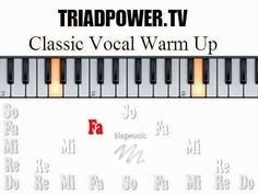 Classical vocal warm up exercise