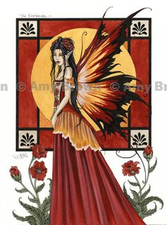 """The Empress"" ORIGINAL ART - Watercolor Paintings A - H - Amy Brown Fairy Art - The Official Gallery"
