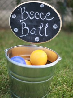 New Reception Ideas. Bocce ball out during cocktail hour?