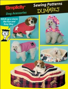 DOG BED & COAT Pattern - Easy Pets Dogs Beds - Sewing For Dummies