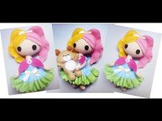 Tutorial - Boneca de Feltro Cabelo Colorido / Craft Doll /Felt / Handmade