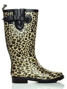 Essential Apparel Women's Leopard Mid-Calf Waterproof Rain Boots * You can get more details here : Boots Mid Calf