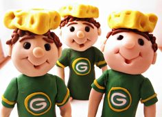 Green Bay Packers Cheese Head  Ornament Decoration Cake Topper.