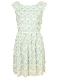 topshop mint embellished dress