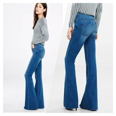 Express bell flare High rise. Bell flare. BRAND NEW WITH TAG. Too big for me. I need a 2  has both tags attached. No flaws. Price is firm Express Jeans Flare & Wide Leg