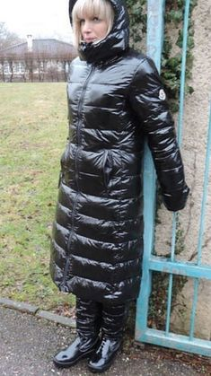Cool Jackets, Jackets For Women, Blueberry Girl, Down Suit, Winter Suit, Pvc Raincoat, Puffy Jacket, Nylons, Lady