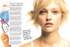sasha pivovarova's beauty faves