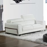 Found it at Wayfair - Flynt Leather Loveseat