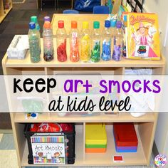 12 life changing classroom art tricks - how to make preschool students more independent in the art center Art Center Preschool, Preschool Rooms, Preschool At Home, Preschool Classroom, Kindergarten, Reggio Art Center, Toddler Teacher, Toddler Classroom, Classroom Setup