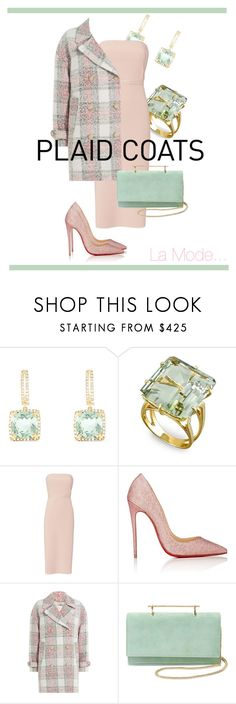 """""""La Mode...: #plaidcoats #2"""" by lamodelle ❤ liked on Polyvore featuring Effy Jewelry, Elizabeth and James, Christian Louboutin, Closed, M2Malletier and plaidcoats"""