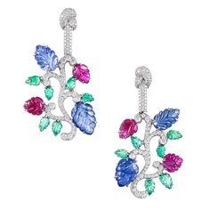 tutti frutti carved ruby emerald and diamonds ring - Cerca con Google