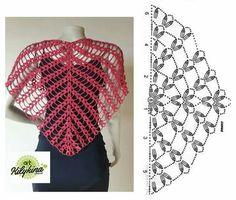 Luna Hobbs's 644 media content and analytics Crochet Bolero, Crochet Collar, Crochet Diagram, Crochet Chart, Diy Crochet, Crochet Stitches, Shawl Patterns, Knitting Patterns, Crochet Patterns