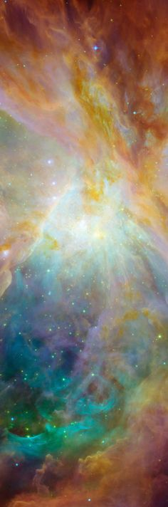 Nebula of Stars and Colorful Gas - Astronomical Beauty - Long, Tall, Vertical Pins