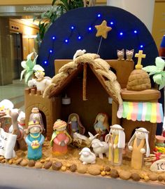 gingerbread house nativity