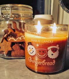 gingerbread candle from yankee candle