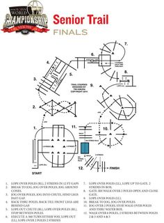 Here is the horse show finals pattern for senior trail class at the 2014 AQHA World Show.