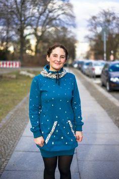 Sicherer Pullover fürs Fahrrad fahren mit Reflektortropfen