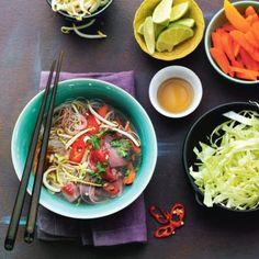 Vietnamese rundvleessoep met spitskool en entrecote