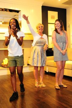 Pottery Barn Event-Here the audience and I are picking the winner of the contest 'Staged Right'.