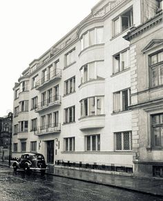 Warszawa międzywojenna - kamienica przy Alei Róż 7, proj. Jerzy Gelbard i Roman Sigalin (1937)