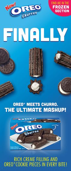 Oreo Churros! Oreo Churros, Ice Cake, Oreo Cookies, Cakes And More, Holiday Treats, Nutella, Cheers, Delicious Desserts, Brownies