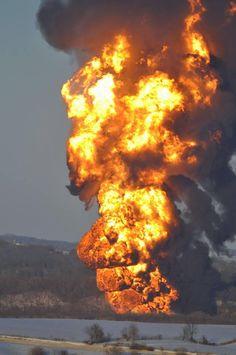 CityPlanningNews.com: Fire - Railroad Derailment Near Galena, Illinois