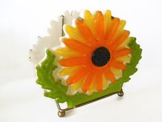Logical Great Vintage Orange Amber Plastic Art Deco Napkin Holder Antiques