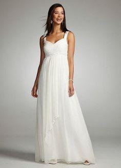Polka Dot Chiffon Dress David's Bridal